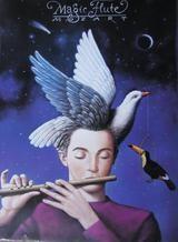 Poster Rafal Olbinski: Die Zauberflöte (Papageno)
